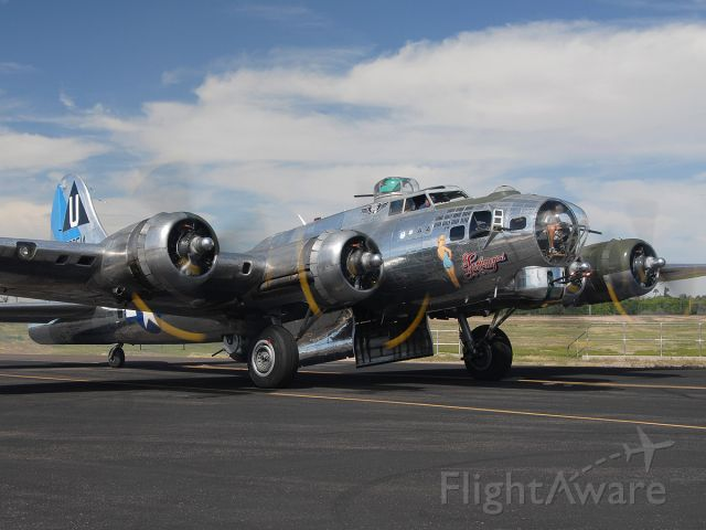 N9323Z — - Boeing B-17G Flying Fortress N9323Z Sentimental Journey taxis out for a revenue flight at the third annual Falcon Field Open House.