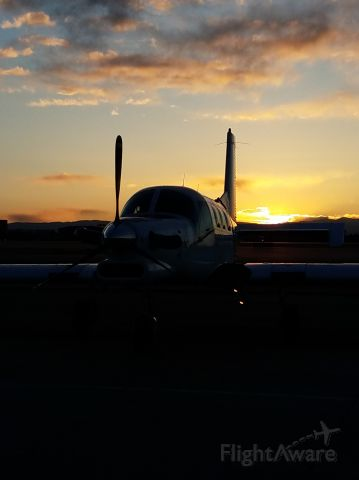 PACIFIC AEROSPACE 750XL (N750VX) - Had to catch the beautiful sunset!