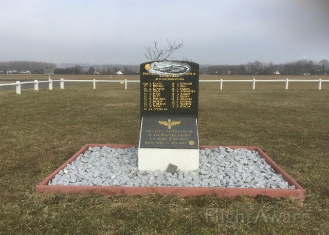 """— — - Memorial  of the 324th Fighter Group US Army Air Force, """"To Those Who Never Returned"""" at Lunéville-Croismare airfield, Lorraine, France"""