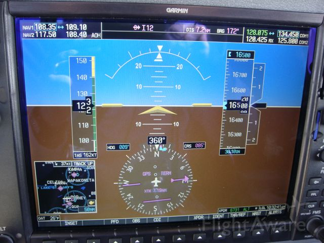 Cessna Skylane (N22NW) - Up at 16.5K sucking on O2 and getting 162TAS...only trade off was that it was cold...25 degrees F...pretty cold for July