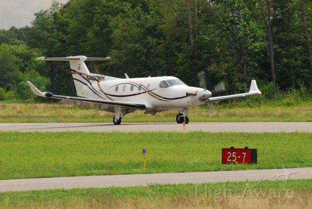 Pilatus PC-12 (N480WH) - LANDING AT SPARTA MICHIGAN
