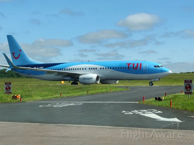 Boeing 737-800 (G-TAWH) - taxing just after landing at newcastle