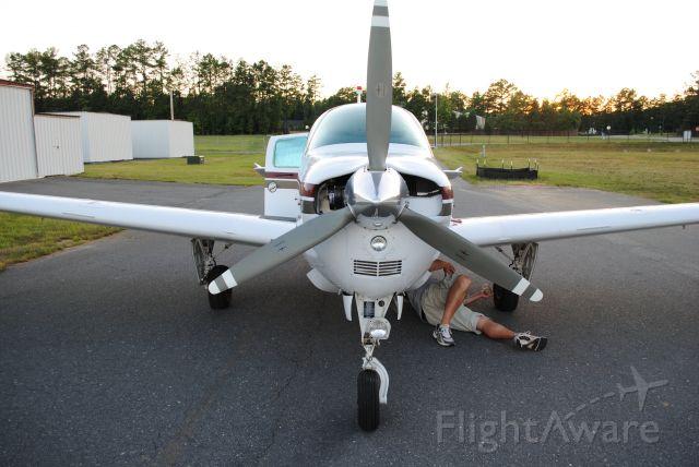 Beechcraft Bonanza (36) (N1116A) - N116a being prepped for flight