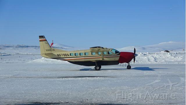 Cessna Caravan (N679BA) - Bering Air Cessna 208B Grand Caravan sitting at the ramp in Nome, Alaska.
