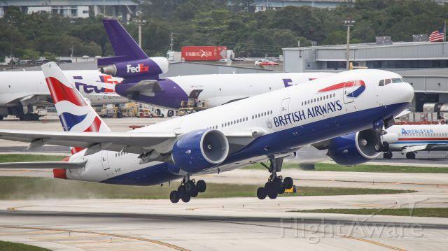 Boeing 777-200 (G-VIIT) - British Airways 777 takeoff from RWY 10L
