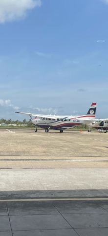 Cessna Caravan (V3-HII) - Tropic Air Belize with a special livery which highlights the Belizean flag at BZE April 9,2021.
