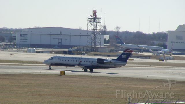 Canadair Regional Jet CRJ-200 (N452AW) - This photo was taken at the Charlotte Airport Overlook.