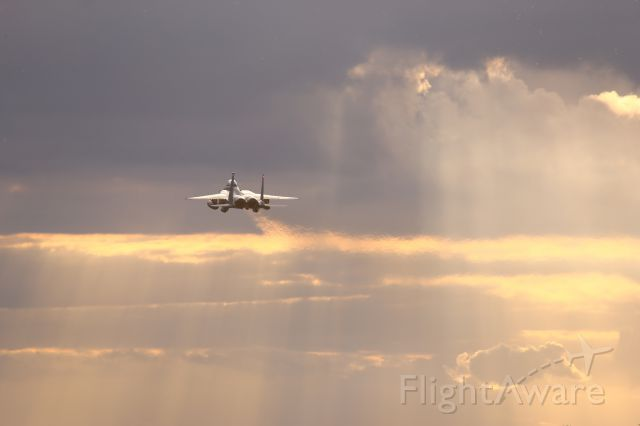 McDonnell Douglas F-15 Eagle — - Dusk departure for this F15 from Lakenheath, UK