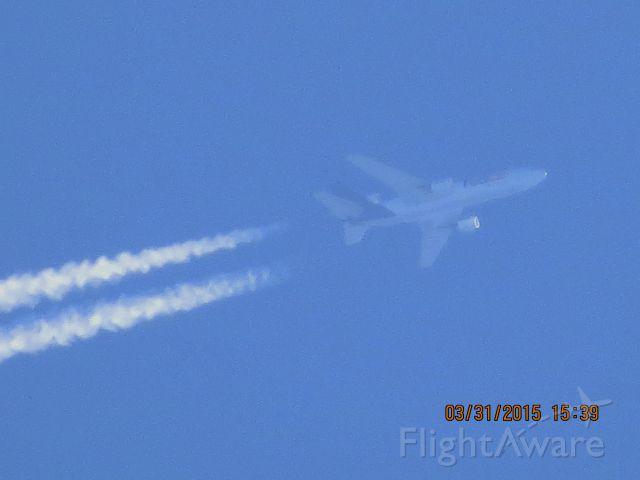 McDonnell Douglas DC-10 (N562FE) - FedEx flight 945 from MEM to SLC over Southeastern Kanas at 38,000 feet.