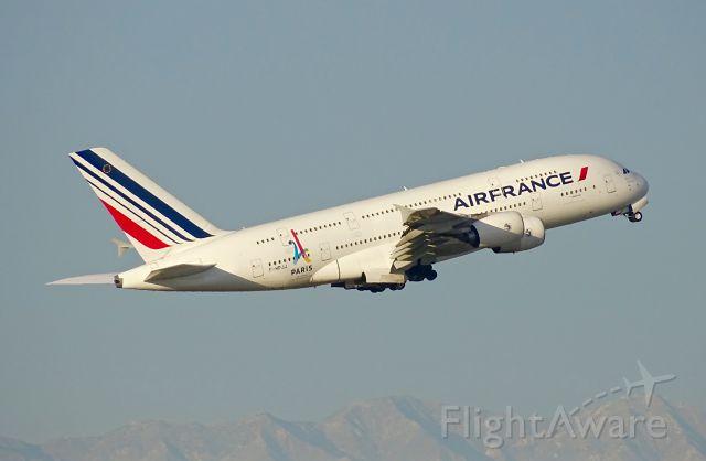 Airbus A380-800 (F-HPJJ) - Featuring the Paris 2024 Olympics bid logo-