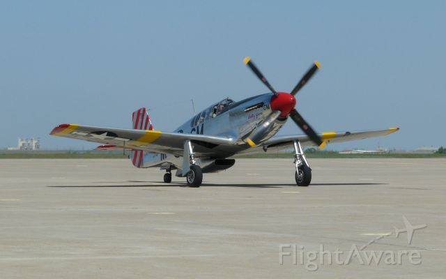 """NL251MX — - Collings Foundation P-51C """"Betty Jane"""" taxiing in at Rick Husband International in Amarillo on April 10, 2012."""