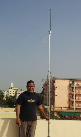— — - 1090 Mhz ADS-B Antenna.