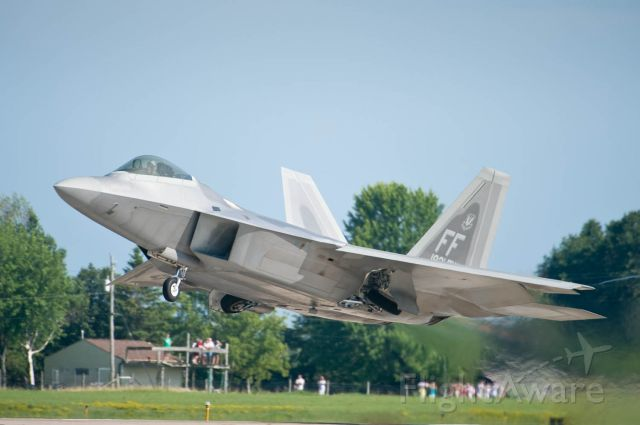 Lockheed F-22 Raptor — - Having an F-22 as Entertainment for Your Afternoon Gathering Is    Priceless. Only at the Worlds Greatest Aviation Celebration - AirVenture Oshkosh 08.