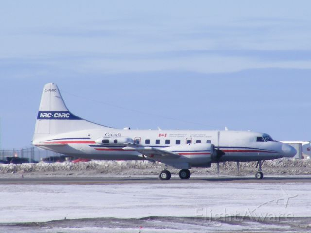 C-FNRC — - National research council of Canada, Convair 580, taxiing back to hangar.