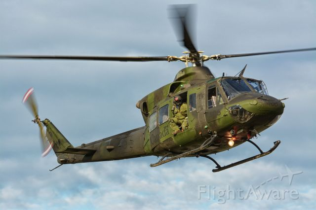 """CICARE CH-14 Aguilucho (14-6405) - """"Falcon31"""" on final to CYHU. From 430sqn."""