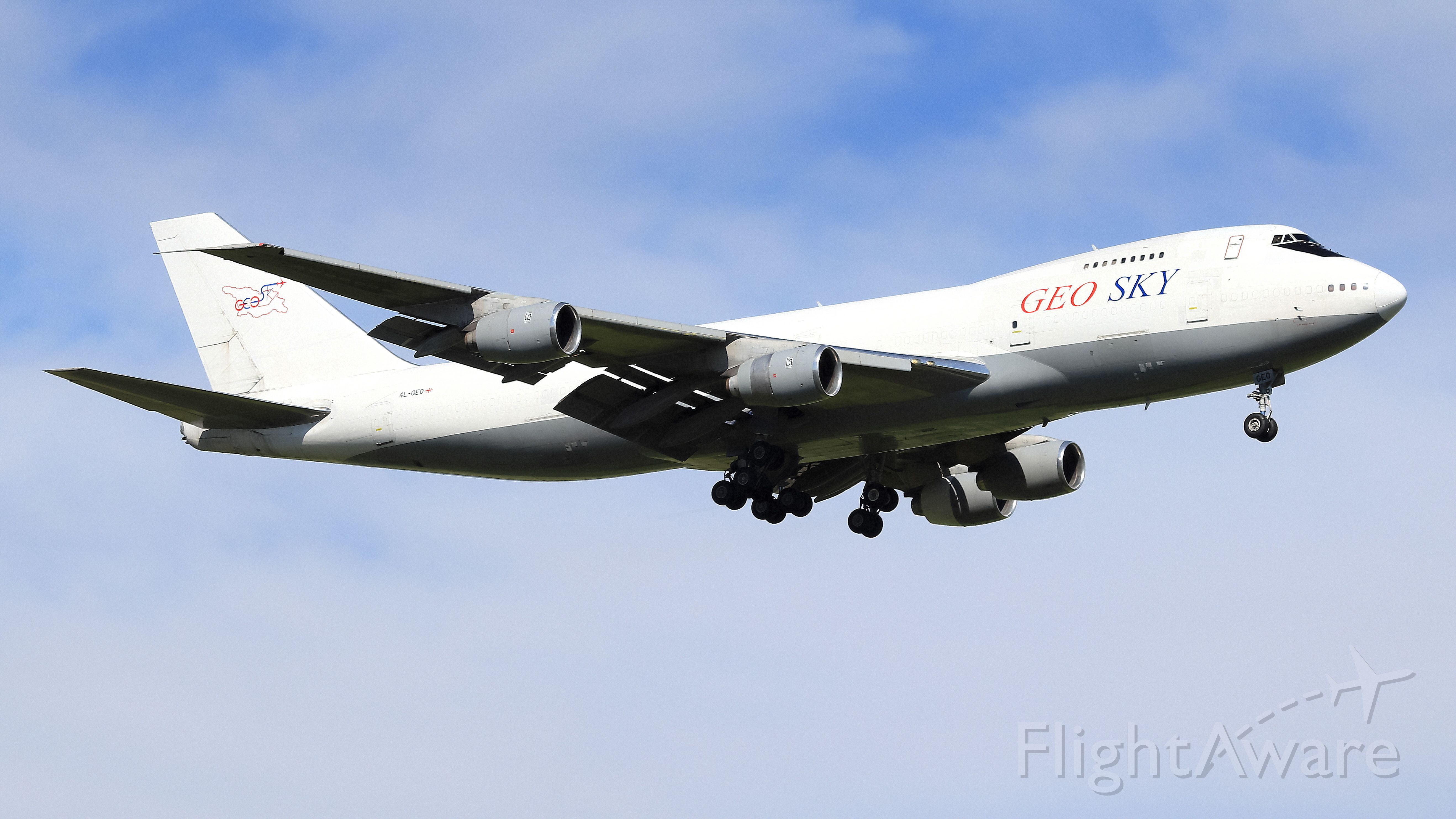 Boeing 747-200 (4L-GEO) - Queen of the sky, at Happy Amsterdam.