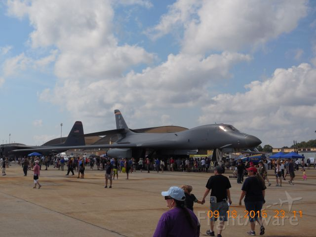 Rockwell Lancer — - A B1B Lancer On Display At The 2015 Andrews Airshow