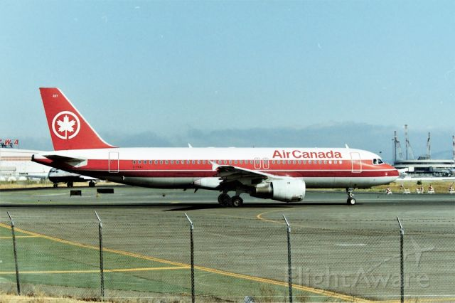 Airbus A320 (C-FKAJ) - SFO Summer 1996 shows LN 333 for Air Canada on Runway 1R for Vancouver or Toronto. This jet delivered new to ACA in July 1992 and few photos of this jet on line. I had my 6ft ladder in the pick up truck to clear the fence lines. The Millbrae Ave Airpark( Closed 9/11/2001) was an excellent viewing lot and was not always fenced in the early 1970s. I have shot many videos from here and you can search youtube under my screen name MarsAveSo to view some. I have quite a few I have never uploaded, hoping to do that sooner as retirement is near and I will have more time on my hands,,,,,hopefully.