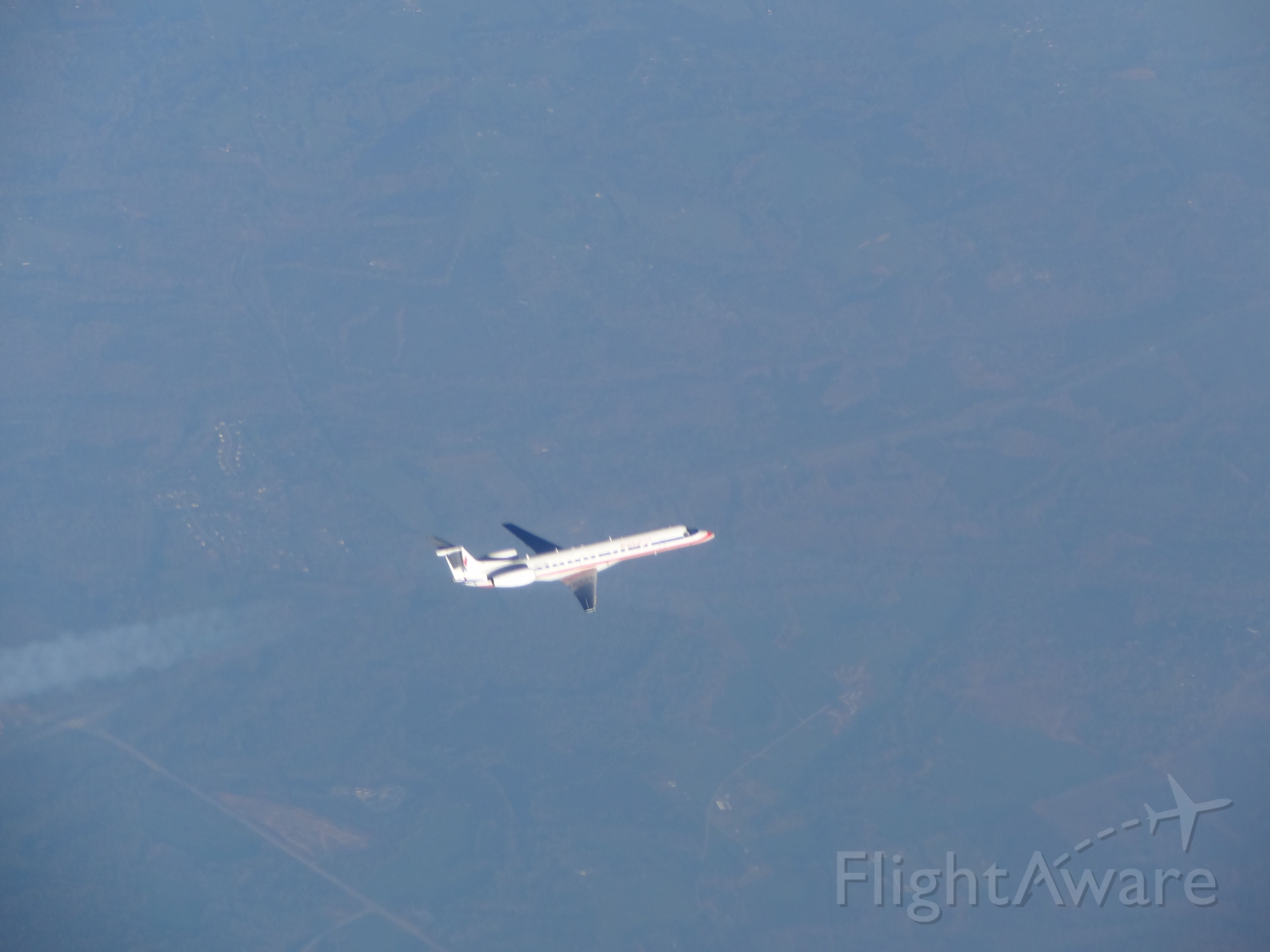 — — - American Eagle EMB 145s at 37000 feet with another one flying just below
