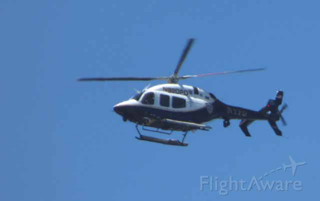 """Bell 429 GlobalRanger (N920PD) - Shown here is  NYPD Bell 429 Global Ranger Helo on duty patrolling the airspace in and around the """"Big Apple"""" in the Spring of 2017."""