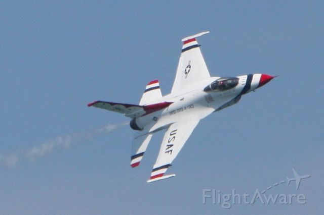 — — - USAF Thunderbird performing at the Ocean City Air Show in Ocean City Maryland on June 9, 2012.