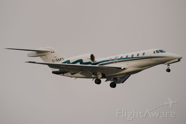 Cessna Citation X (C-GAPT) - Arrival to Stansted from Gander.