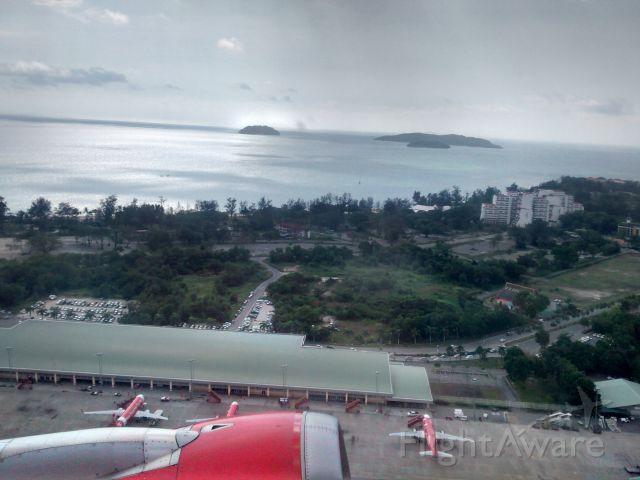 Airbus A320 — - Taking-off from Kota Kinabalu International Airport