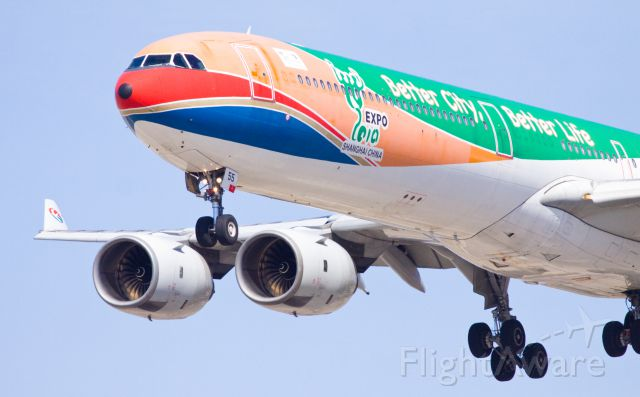 Airbus A340-600 (B-6055) - A colorful landing!