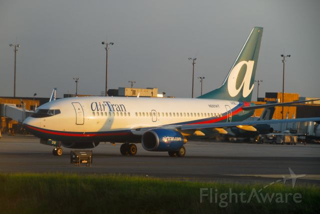 N261AT — - Departing from terminal at 7:18pm ET at Baltimore airport, this is a 2005 Boeing.