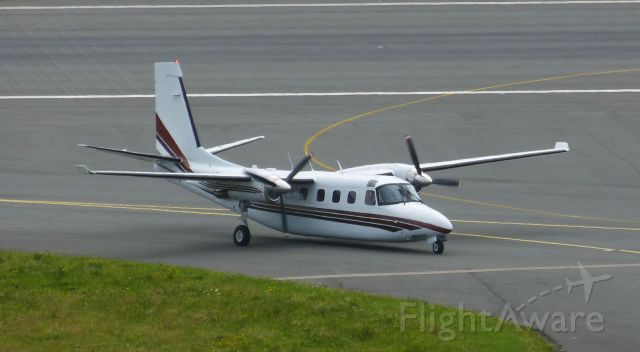 Gulfstream Aerospace Jetprop Commander (N695FA) - Taxiing in to Isle of Man from IceLand