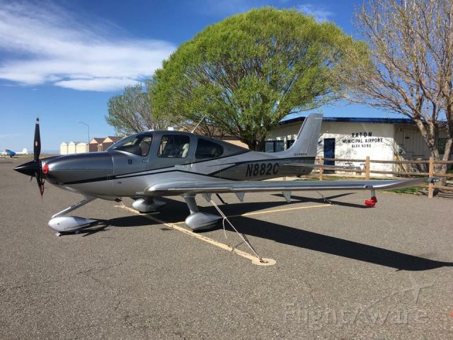 Cirrus SR-22 (N882C) - Cirrus SR22T GTS with the carbon package sitting at KRTN in New Mexico over the weekend.