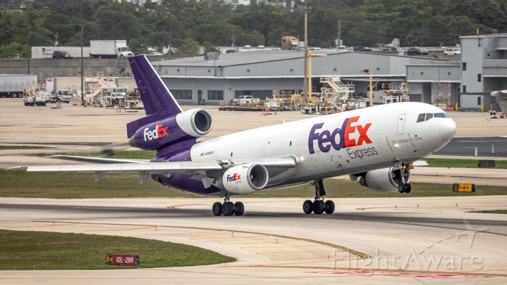 McDonnell Douglas DC-10 (N389FE) - FedEx departing from RWY 10L