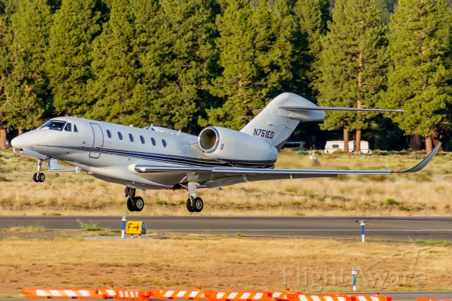 Cessna Citation X (N751ED) - Private Citation X lifting off of 29 during golden hour, bound for Van Nuys (19 July, 2021)