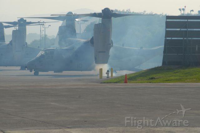 Bell V-22 Osprey — - #2 Engine starting, #1 already started.