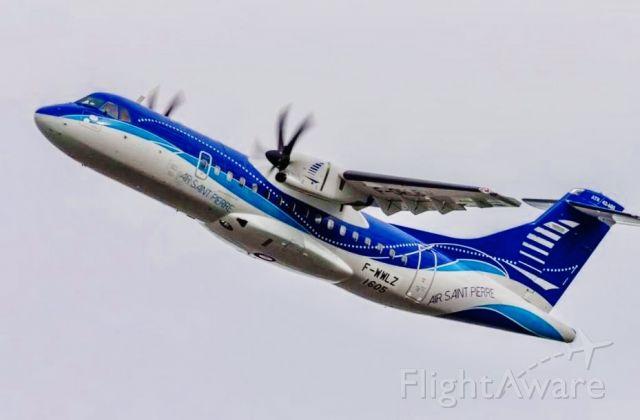 Aerospatiale ATR-42-600 (F-ORLB) - Vol d'acceptation à Toulouse pour la réception par la Compagnie Air St-Pïerre de son nouvel ATR 42-600