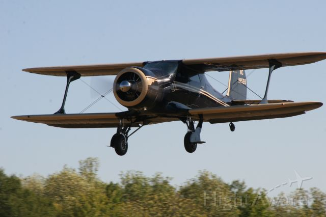 Beechcraft Staggerwing — - Beech Staggerwing landing at the Beech Party in Tullahoma, TN.  Photo by Larry Wixom
