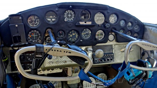 Cessna 170 (N3431D) - Poor Cessna 170 has been sitting for 9 years, owner passed away a few weeks ago. New owner stopped by and showed me the cockpit for the first time, tried to start it up but couldn