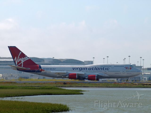 Boeing 747-400 (G-VROC) - At SFO