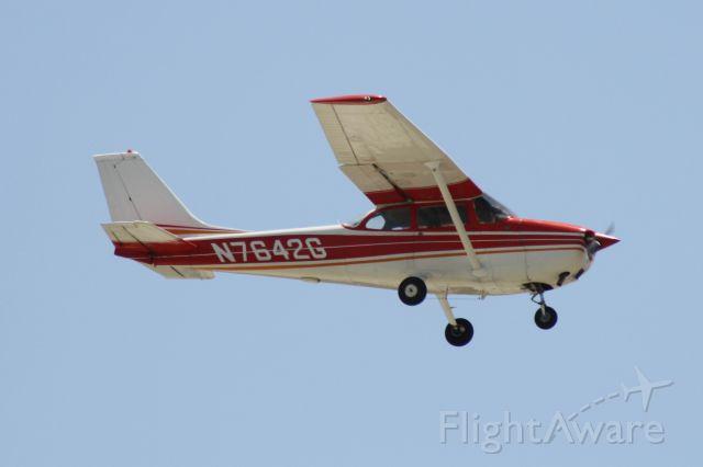 Cessna Skyhawk (N7642G) - Landing at John Wayne Airport, July 11 2018.