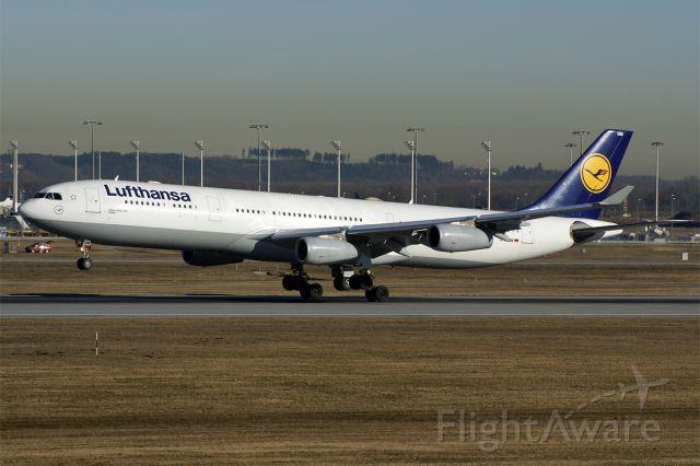 D-AIGM — - Airbus A340-313X  Lufthansa  EDDM Munich Airport Germany  7.February 2011
