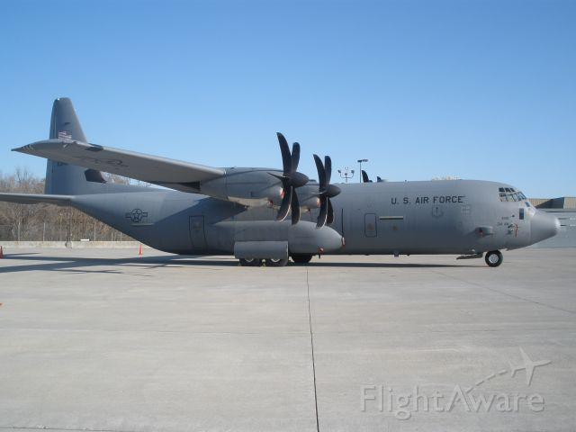 Lockheed C-130 Hercules (N53146) - U.S.Airforce C-130J Super Hercules here to give ROTC Cadets a ride.