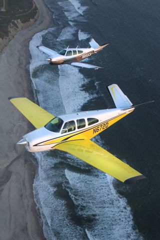 Beechcraft 35 Bonanza (N672D) - Evening photoshoot along the California Coastline south of Half Moon Bay, CA