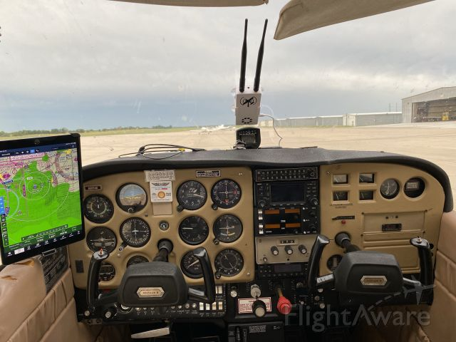 Cessna Skyhawk (N6654H) - Watching the weather, hoping it stays away.