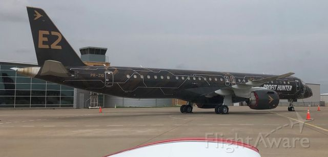 EMBRAER 195 (PR-ZIQ) - Seems like a prototype from Brazil was parked on Sep 05, 2021 in front of the Silent Wings Museum