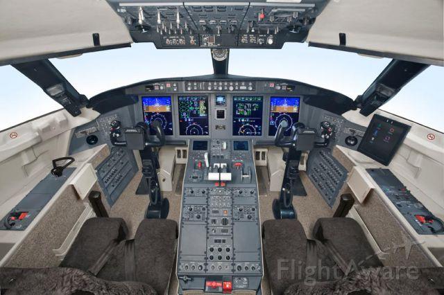Canadair Challenger (VP-CSI) - in the air above Dubai