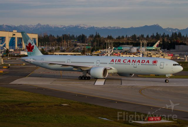 C-FNNQ — - Customer deliver of Air Canada 777-300ER on 11/22/13. Taken from the Future of Flight Center observation deck.
