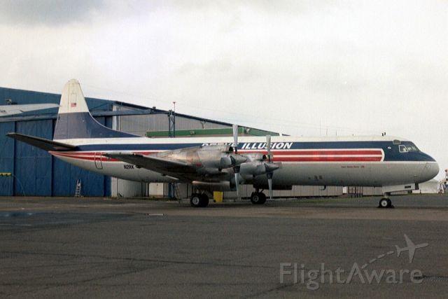 Lockheed L-188 Electra (N2RK) - Seen here on 1-Jun-03.  Reregistered C-FIJX 5-Aug-10 for Buffalo Airways.