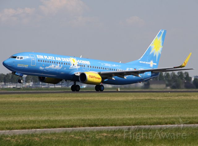 "Boeing 737-800 (D-AHFZ) - 2013 with ""CEWE""-livery."
