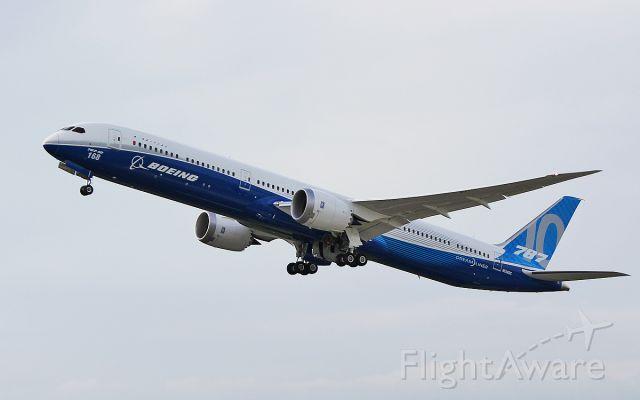 """Boeing 787-8 (N528ZC) - """"boe 001"""" b787-10 n528zc dep shannon for boeing field seattle 20/6/17."""