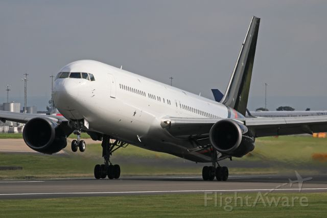 BOEING 767-300 (G-POWD) - AWC883 departing to Athens.